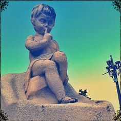 """tags this photo of a statue in Marseilles as """"creepy"""" but it's really kind of creepy cool. The colors are out. Computer Art, Out Of This World, Digital Collage, Free Photos, Overlays, Creepy, Statue, Tags, Nice"""