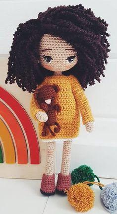 35 Beautiful Amigurumi Doll Crochet Pattern Ideas and Images Part amigurumi free patterns; amigurumi for beginners; Doll Amigurumi Free Pattern, Crochet Dolls Free Patterns, Crochet Doll Pattern, Amigurumi Doll, Crochet Fairy, Cute Crochet, Crochet Crafts, Crochet Projects, Crochet Ideas
