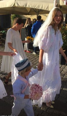 Helena Christensen served as a bridesmaid at the wedding of Danish model Caroline Brasch and her chef beau Frederik Bille Brahe in a stunning ceremony in Copenhagen over the weekend. Gorgeous Wedding Dress, Chic Wedding, Wedding Events, Wedding Gowns, Kate Moss Wedding Dress, Wedding Parties, Wedding Outfits, Wedding Tips, Lace Wedding