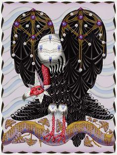 Carpet Moooi Vulture carpet design by Klaas Haapaniemi