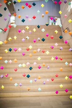 colourful geometric garland