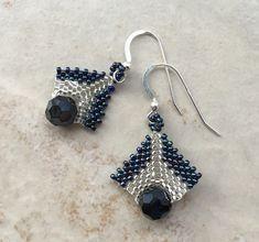 Lovely Beaded Drop Earrings Tutorial ~ The Beading Gem's Journal