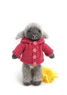 This is it. This is the little guy I am making for the girls for Christmas. I hope they love her. It's my very first knitted stuffed animal project. YIKES!