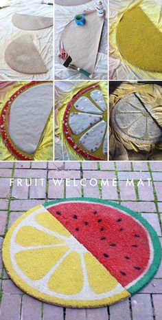The House That Lars Built.: Weekend project: Fruit welcome mats
