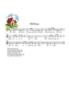 "Folk Song: ""Old House"".  Also SMARTboard activity and a  game with Jenga blocks."