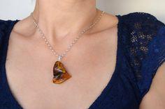 Colgante de ambar baltico con cadena Pieza unica Baltic Amber, Pendant Necklace, Jewelry, Chains, Pendants, Jewlery, Bijoux, Schmuck, Jewerly