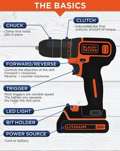 Want to know about power drills? Read on! Cordless Drill Reviews, Corded Drill, Used Power Tools, Tools For Women, Tools Hardware, Basic Tools, Old Tools, Diy Cleaners, Home Repair