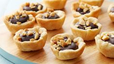 The classic holiday candy is now a perfectly sized mini pie layered with a creamy peanut butter filling, a decadent chocolate layer and a finishing touch of sprinkled chopped peanuts.
