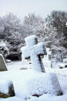 Snowy Graveyard by Steve Lewis , via 500px