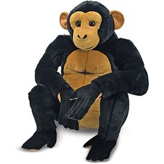 Swinging from the treetops and into your arms, this plush chimp from Melissa