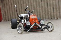 How to conceive of and build what is arguably the coolest go-kart of all time: The Rug Rat Rod Radio Flyer Rat Rods, Rat Rod Cars, Pedal Cars, Homemade Go Kart, Homemade Tools, Go Kart Plans, Radio Flyer Wagons, Diy Go Kart, Drift Trike