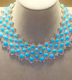 Buccellati turquoise and diamond necklace