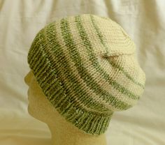 Snowy Green  Med/Lg beanie with transitions from by PurlyShells808, $17.00