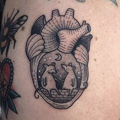 by Susanne König - heart tattoo - heart with mouse tattoo