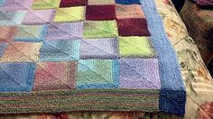 Ravelry: Generic Mitered Square Blanket pattern by Sue Ann (Suna) Kendall