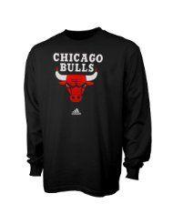 NBA adidas Chicago Bulls Primary Logo Long Sleeve T-Shirt - Black $23.99 - $24.95