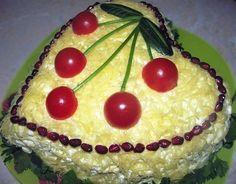 "Real Recipes Club   Chicken salad ""Heart""   http://realrecipesclub.com"