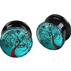 Blue Tree Of Life Flesh Tunnel Logo Double Flare Acrylic Ear Plugs Tunnels Body Piercing Jewelry Earring Taper Tragus From Bodyjewelrysales2, $17.28 | Dhgate.Com