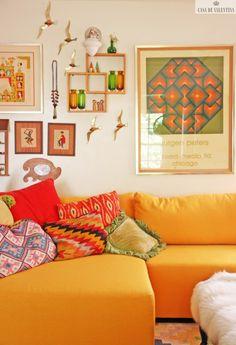Via Casa de Valentina www.casadevalenti... #decor #design #details #idea #modern #color #orange #yellow #casadevalentina