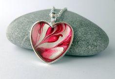 Heart Necklace Valentine Heart Necklace Romantic by ShineOnShopUK