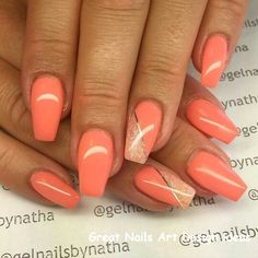 Spring Nails Bright Nail Art For Spring Style 14 Bright Nail Art For Spring Style 14 - - Coral Nails With Design, Nail Design Glitter, Bright Nail Designs, Bright Nail Art, Orange Nail Designs, Nail Designs Spring, Nail Art Designs, Nails Design, Bright Gel Nails