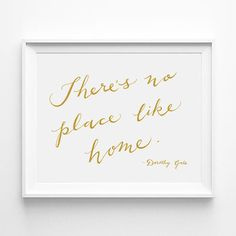 Theres no place like home. Dorothy Gale, Typographic Calligraphy Print of my handwriting. (from the Wizard of Oz) by annasee via Etsy Lady Mary Crawley, Stores Like Free People, Home Decor Wall Art, Nursery Decor, Linocut Prints, Art Prints, Dorothy Gale, Calligraphy Print