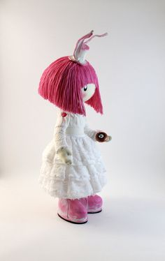 Hey, I found this really awesome Etsy listing at https://www.etsy.com/listing/219294338/doll-pink-rabbit-pink-and-white-pink