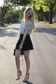 Look –  Renda + Estampa