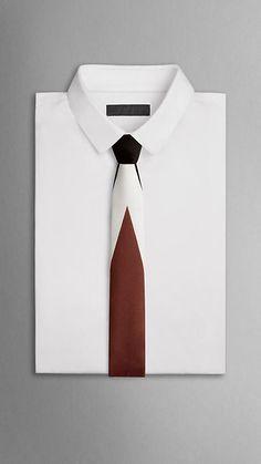 Cravate à motif placé | Burberry