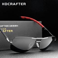 c4645b972c1 HDCRAFTER New Designer s Polarized UV400 Eyewear Rectangle Sunglasses
