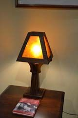 mission arts and crafts lamps | Arts and Crafts Lighting Mission Oak Table Lamps, Wood and Mica Lamp ...