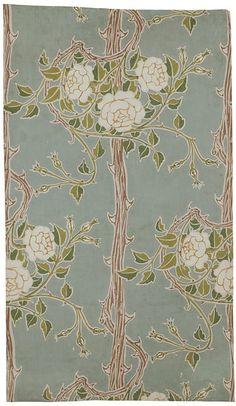 Date: 1900 (made)  Object: Wallpaper - Rose Bush   Place of origin: England, Britain (made)  Artist/Maker: Crane, Walter (R.W.S.), born 1845 - died 1915