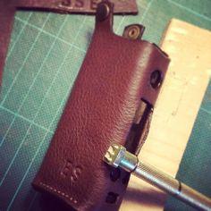 Custom leather case for Joyetech Evic mini - punch letters  brown leather by Malafola #malafola #malafolacases #madeinitaly #vapecommunity #vape #vaping #vapecase #ecigcases #ecig #workinprogress #sigarettaelettronica #accessories #ecigarette #lab #vegtanleather #leather #handmade #customized #joyetech #joyetechevicvtcmini #evic #evicmini #instavape #vapelove