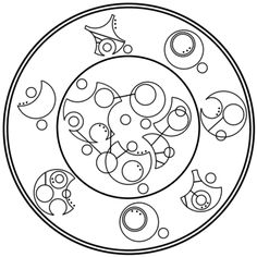 """""""All lives end, all hearts are broken. Caring is not an advantage"""" written in circular Gallifreyan"""