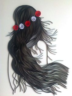 Quilling modele : Beautiful Women on QuillingThe Art of Paper Quilling~