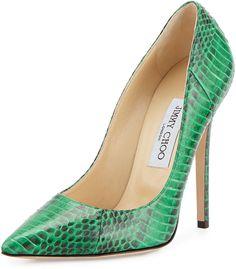 1606b5415738 Fashion Island Outlet — Jimmy Choo Anouk Glossy Snakeskin Pump