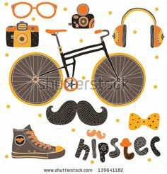 Hipster Signs Elements. - stock vector