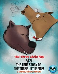 """**FREEBIE ALERT** Get our new """"The Classic Three Little Pigs vs. The True Story of the 3 Little Pigs Mini-Unit"""" FREE for the next 30 minutes ONLY (reg. $4)! Get it while you can!"""