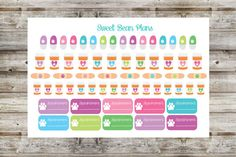 Includes one sheet of 60+ pet medication/vet appointment planner stickers, perfect for decorating your life planner or scrapbook!  Each sticker is