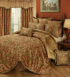Amazon.com: Austin Horn Classics 4-Piece Botticelli Bedding Collection, Californian King: Home & Kitchen