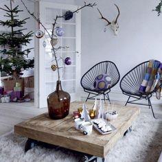 steigerhouten salontafel op wielen - Google zoeken