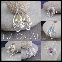 Spiral Loop Frames - Wire Jewelry Tutorial by KSJewelleryDesigns, via Flickr