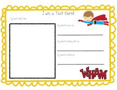 Test Super Hero! Help your kiddos learn test taking strategies and mentally prepare!