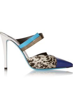 FENDI Printed calf hair and leather mules £470.83 http://www.net-a-porter.com/products/486513