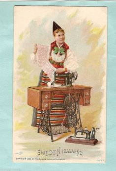 1892 Singer Sewing Machine Trade Card