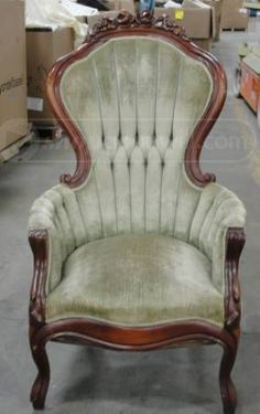 shopgoodwill.com - #10073846 - Vintage Victorian Carved Wood Arm Chair - 6/6/2012 9:13:14 AM