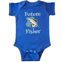Inktastic Future Fisher Childs Fishing Infant Creeper Baby Bodysuit Fisherman Fish Trout Kids Cute Boys Girls Sports Hobbies Hobby Gift One-piece Hws, Infant Unisex, Size: 24 Months, Blue