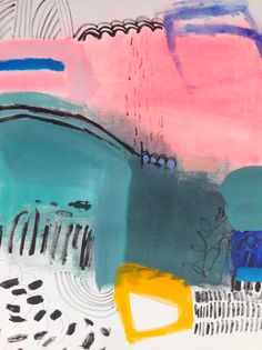 rivers by jenny andrews anderson 18 x 24 acrylic on paper.