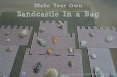 Make Your Own Sandcastle at home! Busy bag idea for toddlers and preschoolers