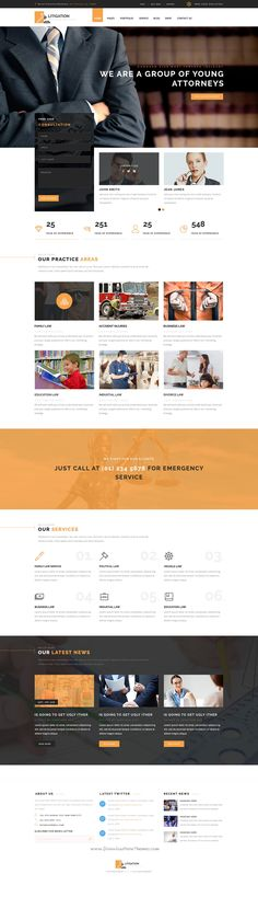 Litigation Law is a clean and multi-purpose business PSD template, which…